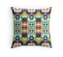 Strands of Color Pattern Throw Pillow