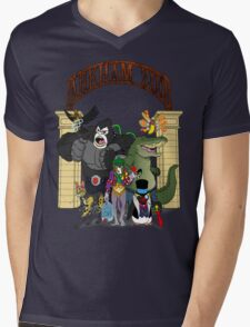 Arkham Asylum Zoo Mens V-Neck T-Shirt