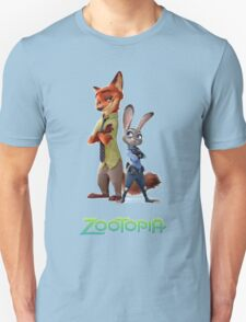 nick wilde and judy hopps from zootopia T-Shirt