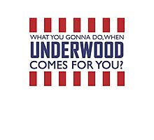 What you gonna do when Frank Underwood comes for you? Photographic Print