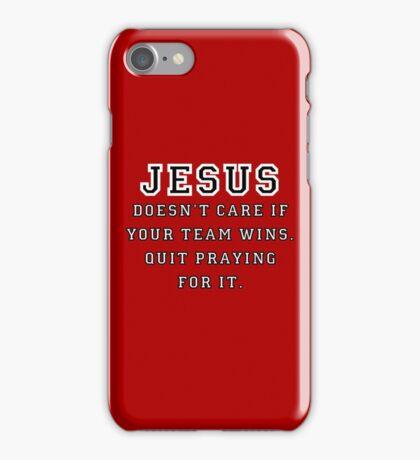 Jesus: Not a Sports Fan - Black/White iPhone Case/Skin