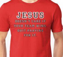 Jesus: Not a Sports Fan - Black/White Unisex T-Shirt
