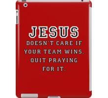 Jesus: Not a Sports Fan - Black/White iPad Case/Skin
