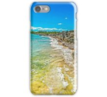 Clear Water Beach Barriers  iPhone Case/Skin