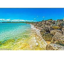 Clear Water Beach Barriers  Photographic Print