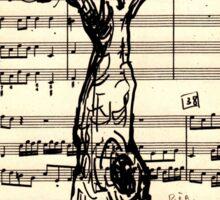 Handel Water Music Tree #2 Sticker