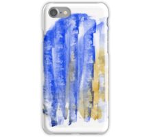 Blue and Yellow Abstract - Watercolor Painting iPhone Case/Skin
