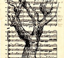 Handel Water Music Tree #3 by Rebecca Rees