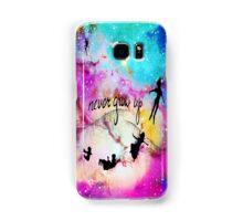 Never Grow Up Peter Pan Nebula Samsung Galaxy Case/Skin