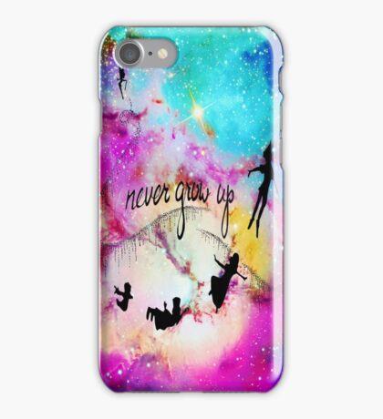 Never Grow Up Peter Pan Nebula iPhone Case/Skin