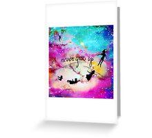 Never Grow Up Peter Pan Nebula Greeting Card