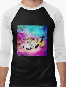 Never Grow Up Peter Pan Nebula Men's Baseball ¾ T-Shirt