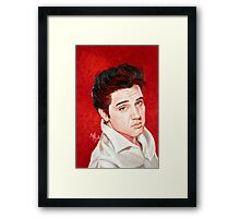 "Elvis Presley ""the King of Rock and Roll"" Framed Print"