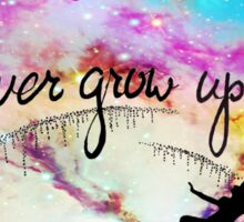 Never Grow Up Peter Pan Nebula Sticker