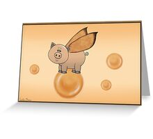 Bubble Piggy II Greeting Card