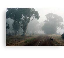 Lonely Road, Edenhope, Victoria. Canvas Print