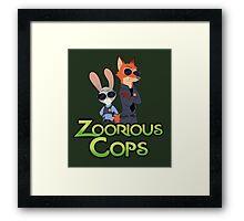 Zoorious Cops (Serious Cops) Framed Print