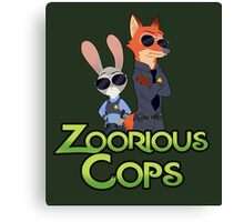 Zoorious Cops (Serious Cops) Canvas Print
