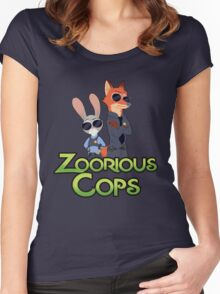 Zoorious Cops (Serious Cops) Women's Fitted Scoop T-Shirt