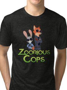 Zoorious Cops (Serious Cops) Tri-blend T-Shirt
