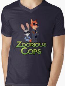Zoorious Cops (Serious Cops) Mens V-Neck T-Shirt