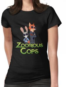 Zoorious Cops (Serious Cops) Womens Fitted T-Shirt