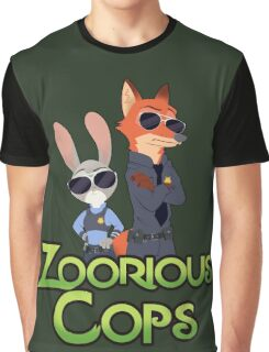 Zoorious Cops (Serious Cops) Graphic T-Shirt