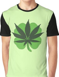 Lucky '7' Leaf Clover Graphic T-Shirt
