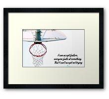 Basket motivational Jordan design Framed Print