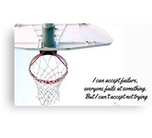 Basket motivational Jordan design Canvas Print