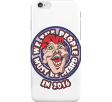 WE THE PEOPLE MUST BE HEARD iPhone Case/Skin
