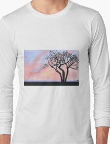 Sunset - Watercolor Painting Long Sleeve T-Shirt