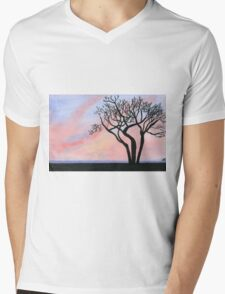 Sunset - Watercolor Painting Mens V-Neck T-Shirt