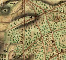 American Revolutionary War Era Maps 1750-1786 595 Map of the environs of Camden NJ Sticker