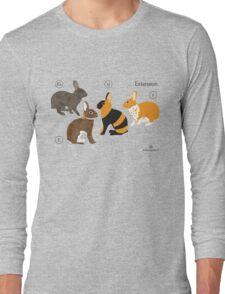 Rabbit colour genetics - Extension gene Long Sleeve T-Shirt