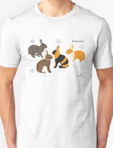 Rabbit colour genetics - Extension gene T-Shirt