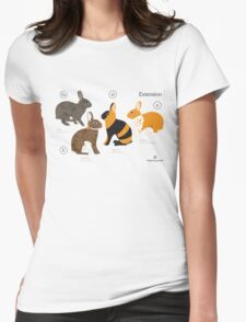 Rabbit colour genetics - Extension gene Womens Fitted T-Shirt