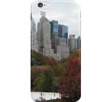 NY November Wollman Rink, Central Park, Fall Foliage iPhone Case/Skin