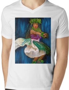 Merrie Monarch Hula Mens V-Neck T-Shirt