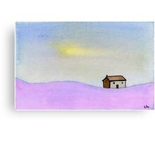 A Simple House - Watercolor Painting Canvas Print