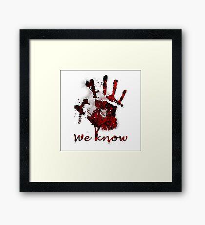 Dark Brotherhood Handprint Framed Print