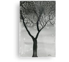 Winter Tree- Watercolor Painting Metal Print