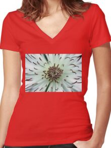 Rosy Purple Women's Fitted V-Neck T-Shirt