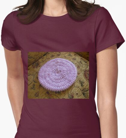 Pretty Mauve Hat Womens Fitted T-Shirt