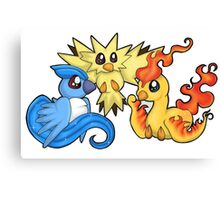 Pokemon Kanto legendary birds Canvas Print
