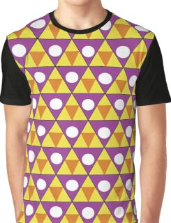Triangle and a Circle Pattern Graphic T-Shirt
