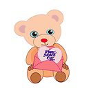 Teddy with mother's day message (5683 views) by aldona