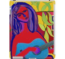 BLUE GUITAR WOMAN iPad Case/Skin