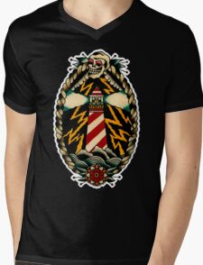 Lighthouse Mens V-Neck T-Shirt