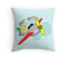 jet- Bon Voyage (6280 Views) Throw Pillow